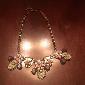 Jewelry - Light/dark purple, & teal statement necklace